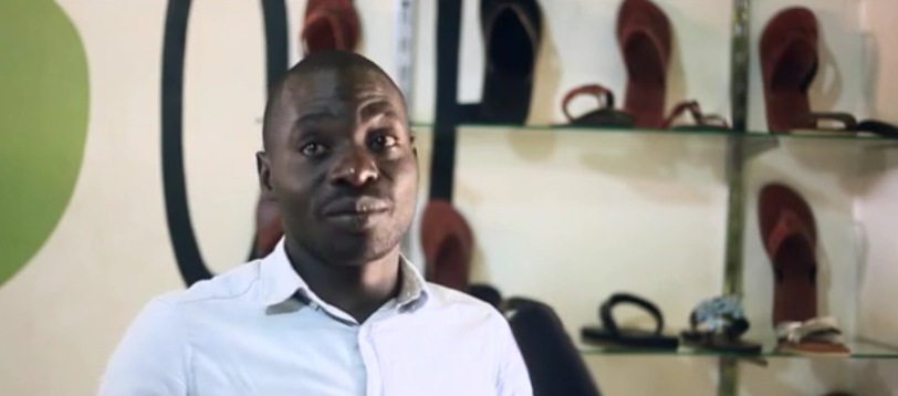 Bwanika Nuru, maker of shoes and leather products